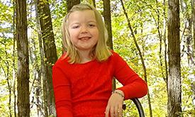 Faith, age 5, T1D.