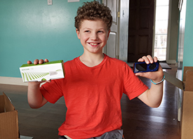 Logan, age 8, T1D, Michigan